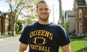 Brendan Ginn, Queen's football player, had 20-odd liters of his bone marrow donated.