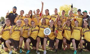 The women's ultimate frisbee team won the Canadian University Ultimate Championship in Montreal during Homecoming weekend.