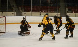 Queen's lost 3-1 to Guelph in their final game of the weekend.