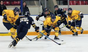 Women's hockey beat UOIT 2-1 on the weekend away from home.