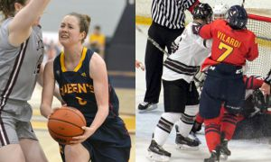 Emma Ritcey from women's basketball and Francessco Vilardi from men's hockey.
