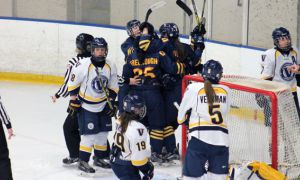The women's hockey team was knocked out in the first round of the OUA playoffs.