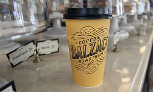 A coffee cup from Balzac's.