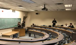 Tuesday's all candidates meeting saw a near empty room in Dunning Hall.
