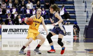 Abby Dixon leads the country in steals with 3.6 per game.