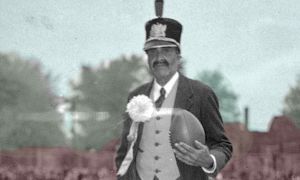 Alfie Pierce appearing at a football game.