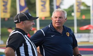 Pat Sheahan had his 100th career win with Queen's on Aug. 26.