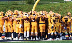 The football team is heading into this weekend with a 2-2 record.
