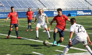 Men's soccer fell just short of the undefeated Carleton Ravens 2-1 this past weekend.