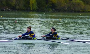 Munro and Walker won gold in the women's double at the OUA championships.