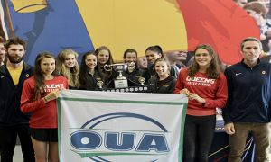 The women's cross country team won OUA gold.