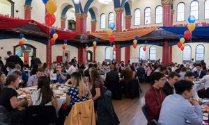 The all-star reception took place in Grant Hall on Wednesday morning.