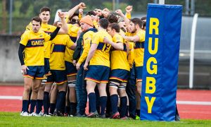 The men's rugby team finished with a national silver medal.