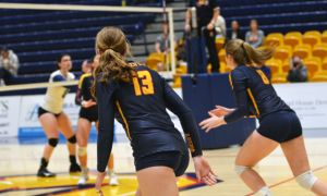 The women's volleyball team currently boasts a 5-4 record.