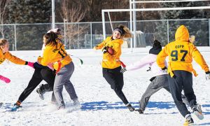 Powderpuff football is a three-team women's football league, with 90 athletes.