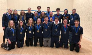 The women's squash team won OUA gold.