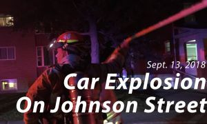 Car explosion on Johnson Street