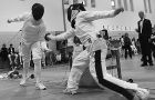 Anton Oentoro of the fencing team scores a point Oct. 20 in the Queen's Invitational. The review ranked fencing 23rd.