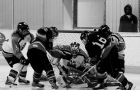 The Brock Badgers, shown Jan. 12 at Queen's, lost to Laurier in the OUA hockey finals.