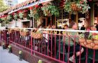 The Brew Pub boasts two patios: this one on Clarence St, and a back courtyard terrace.