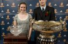 Jimmy Allin and Kristine Matusiak picked up the Jenkins Trophy and the PHE '55 trophy, respectively, Tuesday night at the 73rd annual Colour Awards. See pages 27 and 29 for a collection of photos from the event.