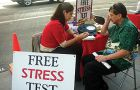 supplied Scientologists often offer a free stress test to evaluate a potential convert's mental state.