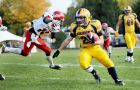 The Gaels scrape into the playoffs with a 52-14 win over the York Lions at Richardson Stadium on Saturday. The Gaels will play the McMaster Marauders next Saturday in Hamilton.
