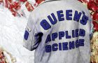 Jacket patches are commonly sewn onto Queen's Faculty Jackets.