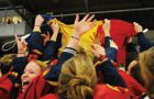 In their first OUA Championship victory in 32 years, the women's hockey team defeated the Guelph Gryphones 3-2 in overtime at the Memorial Centre.
