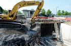 Construction on a tunnel running underneath Union Street is 75 per cent complete.