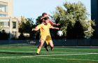 Winger Andrew Colosimo holds off a Royal Military College player during the Gaels' 1-0 win at Tindall field on Saturday.