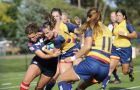 The women's rugby team were minutes away from a loss to the Brock Badgers on Saturday.