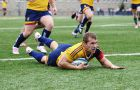 Flanker Matt Kelly scored two tries during the team's 47-3 win over the McMaster Marauders on Saturday.