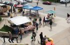 Thanks to a new partnership with the AMS, the Queen's farmer's market has moved from outside Stauffer Library to outside the JDUC.