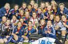 The women's soccer team won provincial and national gold medals this season.