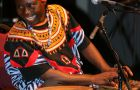 Njack Backo was born in Cameroon and will bring traditional Cameroon rhythms to Jazz group, Ewa Heiwa.