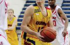 Guard Ryan Golden loses possession of the ball against the York Lions on Saturday.