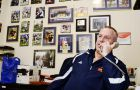 Football coach Pat Sheahan says 75 to 100 prospects visit him at his office in the ARC every year.