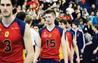 Men's volleyball co-captain Niko Rukavina (15) comtemplates the end of his Queen's career after falling 3-1 to the Manitoba Bisons in the CIS bronze medal match on March 4 at the ARC.