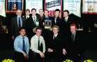 The men's fencing team picked up its second straight varsity club of the year award on Tuesday night.