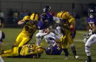 Queen's defense pestered Laurier QB Travis Eman, holding him to 87 passing yards.
