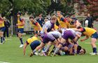 Saturday's game between Queen's and Western was decided by two late penalty kicks, with the Mustangs prevailing 22-20.