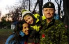 Annie Riel and her two children were separated from her husband Greg when he was deployed to Afghanistan for seven months in 2010-11, during which she began her PhD.