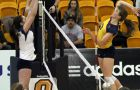 Outside hitter Colleen Oglivie recorded 10 kills last Saturday against Windsor.