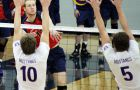 Outside hitter Mike Tomlinson is currently third in the OUA with 107 kills.