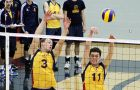 Setter Matt Bonshor (3) recorded 29 assists last Friday against RMC, while middle Scott Brunet (11) had six kills.