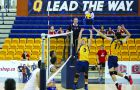 Third-year Matt Bonshor (3) replaces the departed Jackson Dakin as Queen's starting setter.