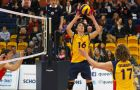 Rookie setter Jamie Wright recorded 37 assists in his first start for Queen's.
