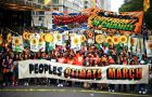 Protestors at the People's Climate March in New York City.