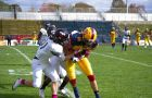 The Gaels put up over 600 yards of total offence, on the way to their first victory of the 2014 season.
